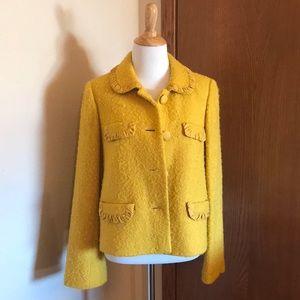 J. Crew Mustard Yellow Jacket Size 4